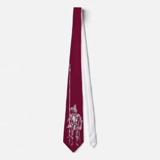 Chevalier dans la cravate rouge de serment de sang