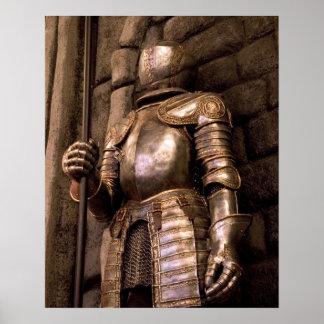 Chevalier dans l'armure posters
