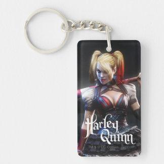 Chevalier de Batman Arkham | Harley Quinn avec la Porte-clé Rectangulaire En Acrylique Double Face