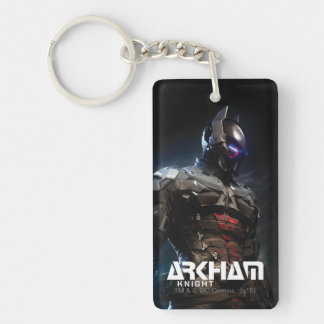 Chevalier de Batman | Arkham Porte-clé Rectangulaire En Acrylique Double Face
