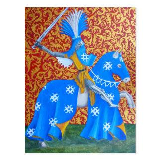 Chevalier médiéval cartes postales