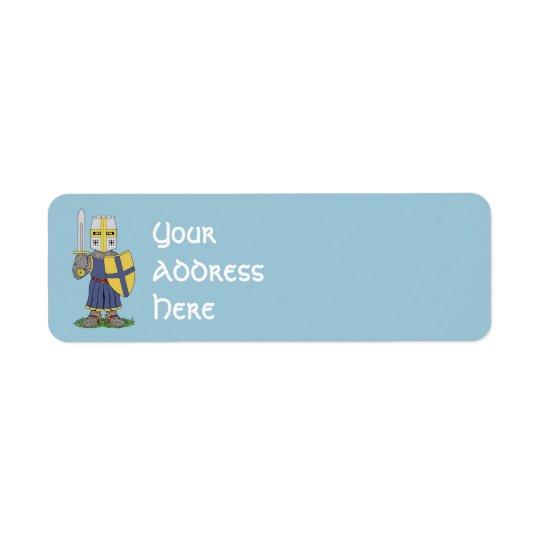 Chevalier médiéval mignon étiquettes d'adresse retour