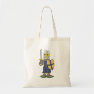 Chevalier médiéval mignon sac en toile