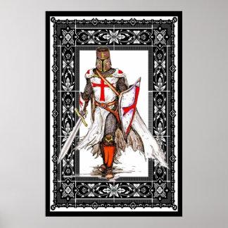 chevalier templar en affiche d'armure poster