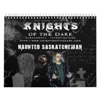 CHEVALIERS du calendrier de Saskatchewan hanté par