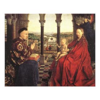 Chevaliers du Christ (retable de Gand), Jan van Ey Prospectus 11,4 Cm X 14,2 Cm