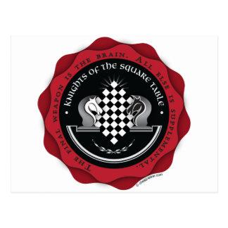 Chevaliers du Tableau carré en rouge Carte Postale