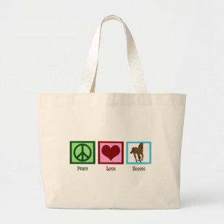 Chevaux d'amour de paix grand sac