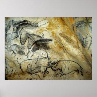 Chevaux de caverne de Chauvet et toute autre Posters