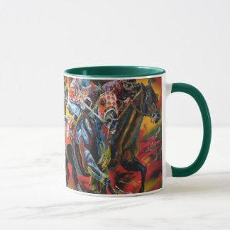 """chevaux de course """"tête à tête"""" mug"""