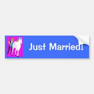 Chevaux de mariage adhésifs pour voiture
