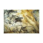 Chevaux et animaux de peinture de caverne de toiles tendues sur châssis