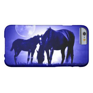 Chevaux et caisse bleue de l'iPhone 6 de nuit Coque iPhone 6 Barely There