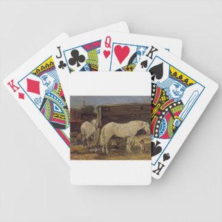 Chevaux gitans par Eugene Boudin Jeu De Cartes Poker