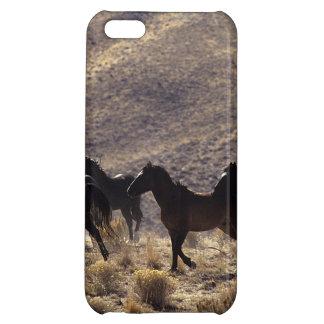Chevaux sauvages de mustang dans le désert 1 coque pour iPhone 5C