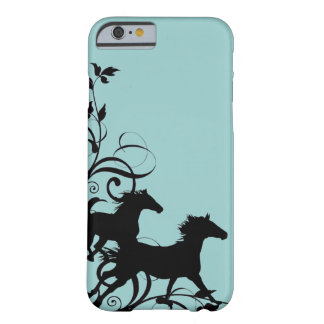 Chevaux sauvages noirs coque iPhone 6 barely there