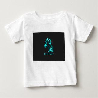 Chevaux-vapeur dans le bleu t-shirt pour bébé