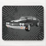 Chevelle 1970 solides solubles : Finition noire :  Tapis De Souris