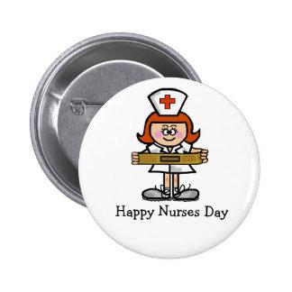 Cheveux femelles de rouge d'infirmière d'infirmièr pin's avec agrafe