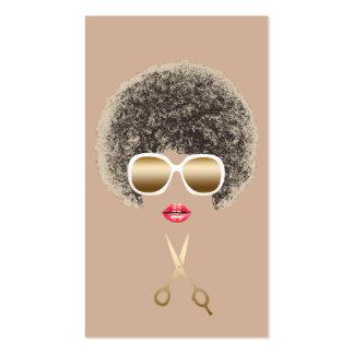 Cheveux naturels de ciseaux modernes d'or de carte de visite standard