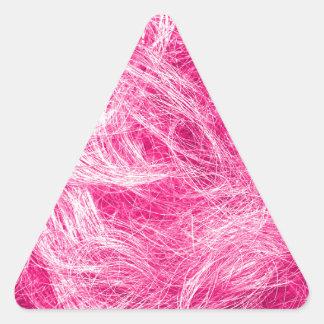 Cheveux roses bouclés sticker triangulaire