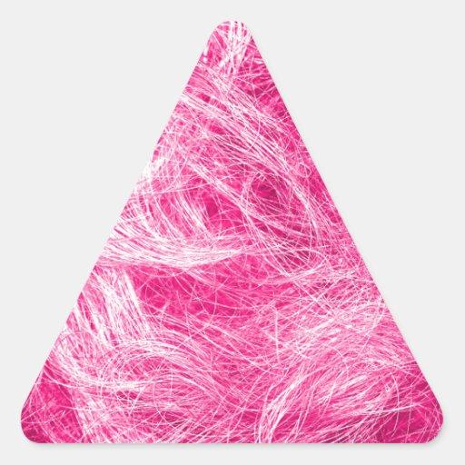 Cheveux roses bouclés autocollant en triangle