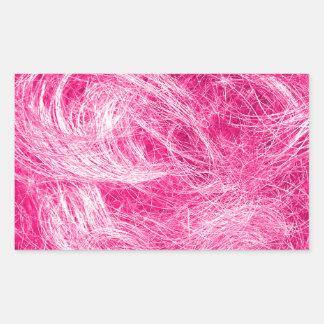 Cheveux roses bouclés sticker rectangulaire