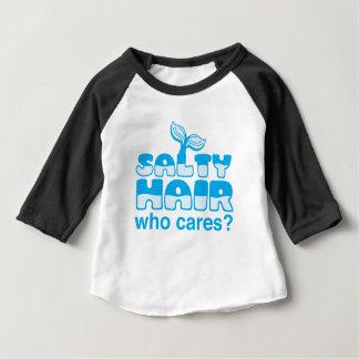 cheveux salés qui s'inquiète ? t-shirt pour bébé