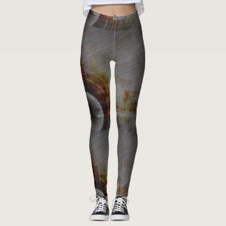 Chevillages modelés par résumé de gris leggings