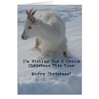 Chèvre dans une dérive profonde de neige, Joyeux N Carte De Vœux