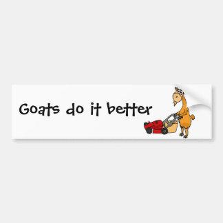 Chèvre de Billy drôle poussant la bande dessinée d Autocollant De Voiture