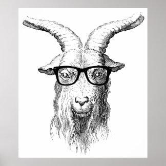 Chèvre de hippie poster