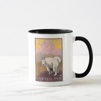 Chèvre de montagne - parc national de glacier, la mug