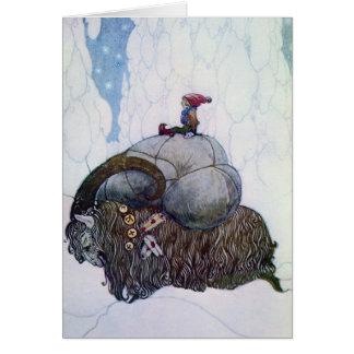 Chèvre de Noël d'équitation de Julbocken Carte De Vœux