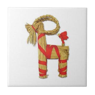 Chèvre de paille de Noël de Julbock de Suédois Petit Carreau Carré