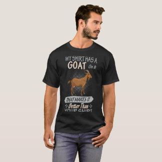 Chèvre de T-shirt de chèvre sur ma chemise