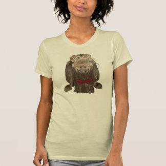 Chèvre drôle de Nubian avec le monocle T-shirt