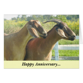 Chèvre/enfants heureux d'anniversaire carte de vœux