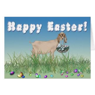 Chèvre heureuse de Pâques Nubian Cartes