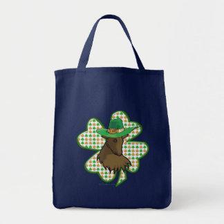 Chèvre irlandaise de trèfle sac en toile
