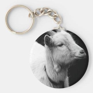chèvre porte-clé rond