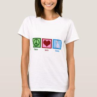 Chèvres d'amour de paix t-shirt