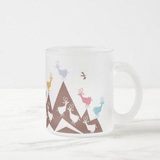 Chèvres de montagne tasse givré