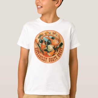 Chèvres de rockabilly bourrues - logo t-shirts