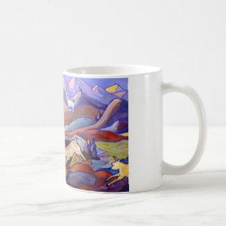 Chèvres et montagnes mug blanc