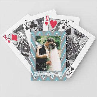 Chevron a encadré des cartes de jeu de photo jeu de poker