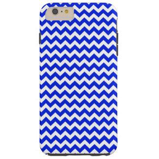 Chevron bleu et blanc lumineux coque iPhone 6 plus tough