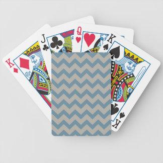 Chevron bleu et gris jeux de cartes
