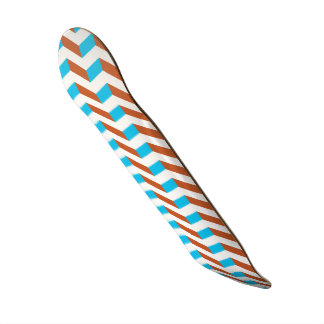 chevron bleu et rouge de 3D Skateboard Customisable
