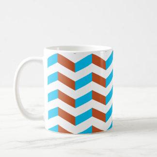 chevron bleu et rouge de 3D Tasses